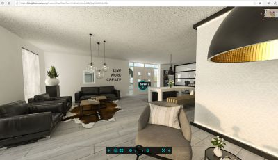 Virtual tour 360° visulaization diningroom
