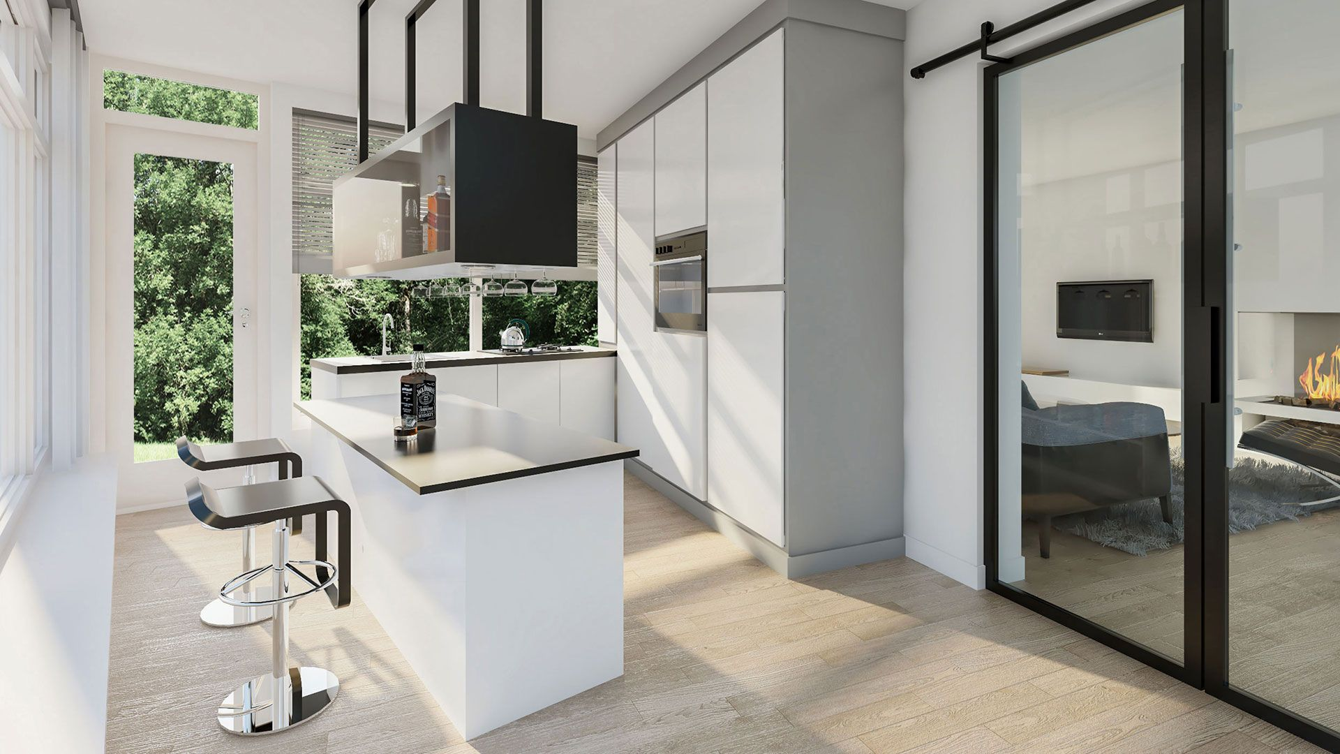 Visualization modern kitchen